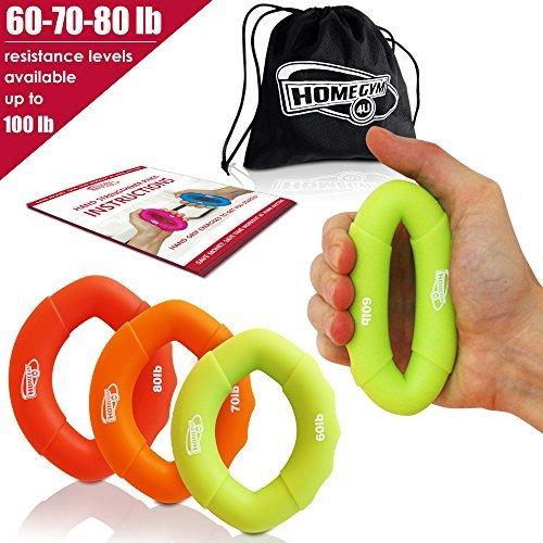 iner & Fingertrainer - Handtrainer Ring & Unterarm Trainingsgerät aus Silikon für bessere Fingerkraft, Handkraft & Griffkraft - Grösste Amazon Auswahl (27-36kg) ()