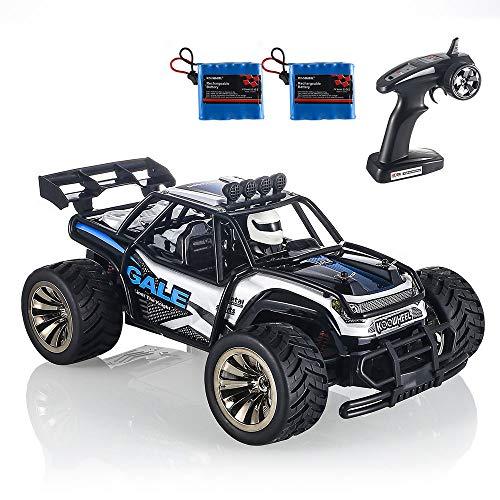 KOOWHEEL RC Coche Teledirigido, 1/16 Off-Road 2WD Alta Velocidad 16km/h Buggy de Carreras con 2 baterías Recargables 1Radio Control 2.4GHZ Juguete para Niños, Adulto