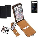 K-S-Trade Flipstyle Case Oukitel K3 Schutzhülle Handy Schutz Hülle Tasche Handytasche Handyhülle + integrierter Bumper Kameraschutz, schwarz (1x)