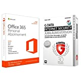 Microsoft Office 365 Personal - 1 PC/MAC - 1 Jahresabonnement + G Data Internet Security (Jubiläumsversion) - 3 PCs / 1 Jahr