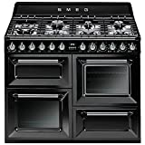 Smeg TR4110BL1 - Cocina (Cocina independiente, Negro, Botones, Giratorio, Frente, Electrónico, Encimera de gas)