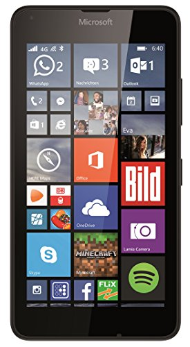 Microsoft Lumia 640 Smartphone (5 Zoll (12,7 cm) Touch-Display, 8 GB Speicher, Windows 10) schwarz