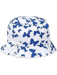 Sombrero de Sun de la muchacha Sombrero del pescador del bebé Sombrero ancho del borde para la primavera