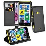 Cadorabo Hülle für Nokia Lumia 625 Hülle in Phantom schwarz Handyhülle mit Kartenfach und Standfunktion Case Cover Schutzhülle Etui Tasche Book Klapp Style Phantom-Schwarz