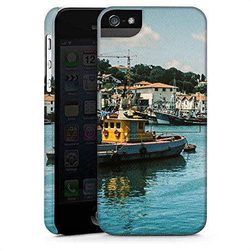 Apple iPhone 4 Housse Étui Silicone Coque Protection Port Côte Bateaux CasStandup blanc