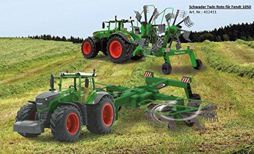 RC Auto kaufen Traktor Bild 6: Jamara 405035 – Fendt 1050 Vario 1:16 2,4Ghz – RC Traktor, Motorsound (abschaltbar), Rückfahrwarnsound, Hupe, Abschaltfunktion, 2 Radantrieb, Gummireifen, Helle LED's vorne, Blinker, Demo Funktion*