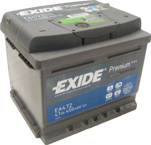 Preisvergleich Produktbild Exide EA472 Premium Carbon Boost Autobatterie 12V 47Ah 450A