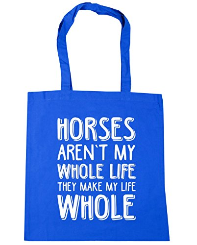 hippowarehouse Pferde nicht My Whole Life Sie Make My Life ganze Tote Shopping Gym Beach Bag 42 cm 38 38, 10 Liter, Kornblume (Blau), One size Farm Hack