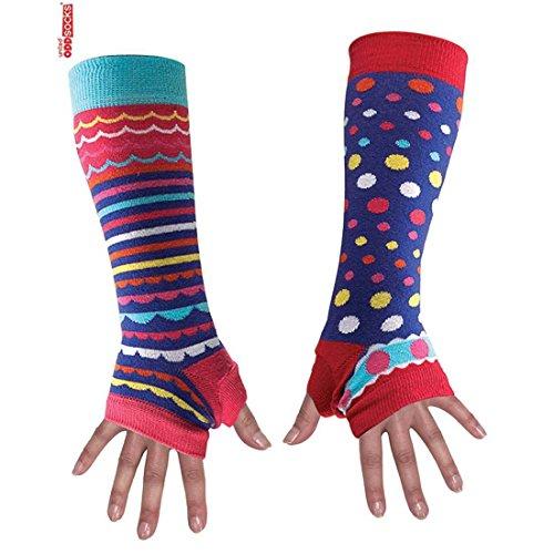 United Oddsocks Scaldabraccia da donna uno diverso dallaltro Purple Spots & Stripes Taglia unica