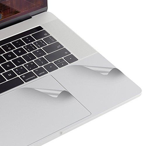 Lention Palm Rest Cover Haut mit Trackpad Protector für MacBook Pro (15-Zoll, 2016-2019), mit Thunderbolt 3 Ports und Touch ID, Schutz Vinyl Aufkleber Aufkleber (Silber) (Macbook Pro Vinyl-haut)