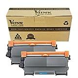 v4ink Toner ersetzt Brother TN-2220 für Brother FAX-2840 / FAX-2845 / FAX-2940 / HL-2240D / HL-2240 / HL-2250DN / HL-2270DW / DCP-7060D / DCP-7065DN / DCP-7070DW / MFC-7360N / MFC-7460DN / MFC-7860DW Drucker, 2600 Seiten für Schwarz, 2 Stück