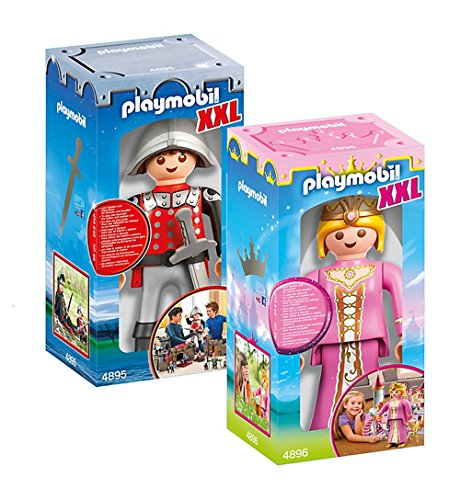 PLAYMOBIL Set 4895 Caballero XXL + 4896...