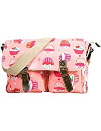 Stylish Printed Pink Color Handbag Cum Sling Bag For Women & Girls By Bagris GE01001843