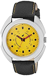 Fastrack Analog Yellow Dial Men's Watch (3117SL03)