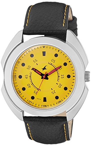 Fastrack Analog Yellow Dial Men's Watch (3117SL03) image