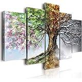 Lupia World Vogue, cuadro sobre lienzo, cuatro estaciones, madera, multicolor, 100 x 150 x 3centímetros