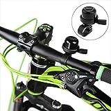 Fahrradklingel, Messingklingel, lauter und knackiger Klang, Mini-Fahrradhupe, Zubehör für Fahrrad, Roller, Kinderfahrrad, Cruiser, Lenker, schwarz