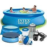 Global 7in1 Set Gartenpool Easy Set Pool 305 x 76cm mit Zubehör INTEX 28120