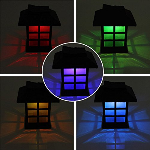EgBert 2Pcs Garden Solar Oriental Led Lampe Outdoor Yard Rasen Dekoratives Licht - Bunten