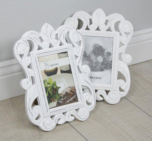 Used, 2x FRAME Baroque Photo Frame Frame White Standing Frame for sale  Delivered anywhere in UK