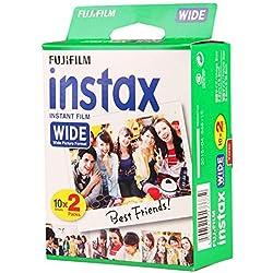 Fujifilm INSTAX Instant Film Wide Grand Format pour Appareil Photo 200/210/300 x20 Impressions Pack