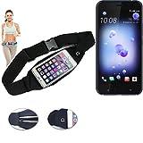 Für HTC U11 Gürteltasche Umhängetasche Bauchtasche schwarz Sport Running Jogging Fitness Laufen Exercise Schutzhülle für HTC U11 - K-S-Trade (TM)