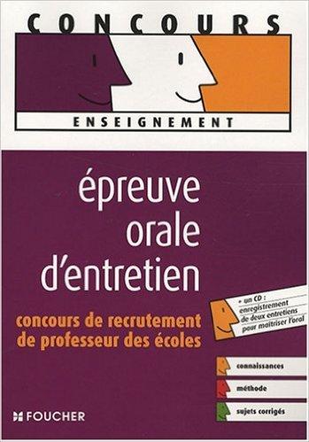 Epreuve orale d'entretien : Concours...