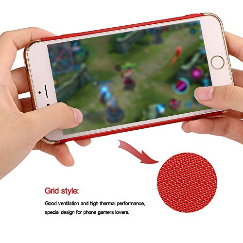iPhone 8Plus Handyhülle, Coole Beschichtung Design CLTPY iPhone 7Plus Hartplastik Abdeckung mit Kreativ Gitter-Design Atem Schutzfall für Apple iPhone 7Plus/8Plus + 1 x Freier Stylus - Schwarzes Gold Rose Gold