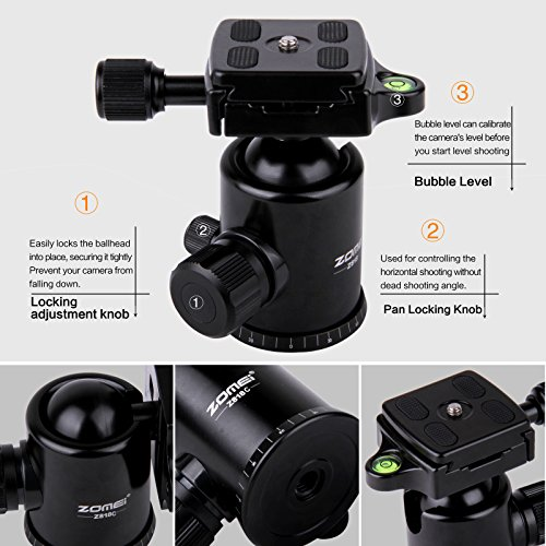 Cheapest Price for Zomei Portable Carbon Fiber Camera Tripod With Ball Head Pocket – Z818C (Black) Discount