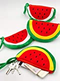 #8: Set of 2 New Plush Red Watermelon Coin Purse Wallet Pouch Bag