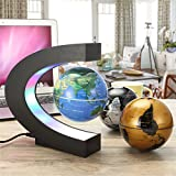 Globus Beleuchtet, MECO 3 Pack Globus (Schwarz+Blau+Silber) Schwebender Gobus Magnetische Kugeln interaktiver globus für kinder Weihnacht, Business,Geburtstag Geschenke, Wohnkultur Büro Dekoration