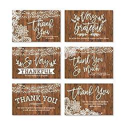 24 rustikale Dankeskarten mit Umschlägen, Trauerdanke, Danksagungsnotizen, Trauergeschenk, Kondolenz Danksagungsbedarf, aus Kunstholz, personalisierbar, religiöses Militär-Gedenkmal mit Nachricht