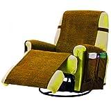 Comptoir du linge paula1plchamois - Funda para sillón de salón, 1 lugar, color beige