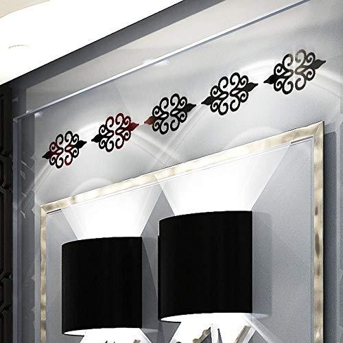 ndaufkleber 10 Stück Multi-Size Quadrat Selbstklebende Fliesen 3D Spiegel Wandaufkleber Aufkleber Mosaik Dekoration Wohnzimmer Veranda Poster Wand A1, Schwarz ()