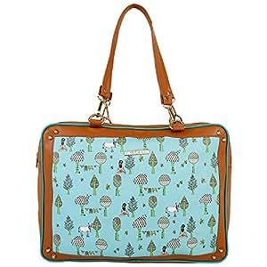 Funk For Hire Women Tree & Yogi Printed PU Leather Shoulder Handbag & Backpack (Blue,FFHACTREEHAVAQUA)