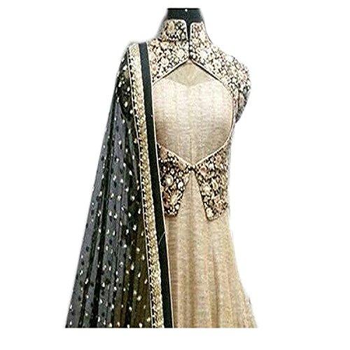 Salwar-Style-Womens-Banglori-Silk-Embroidery-Dress-MaterialBlack-Beige