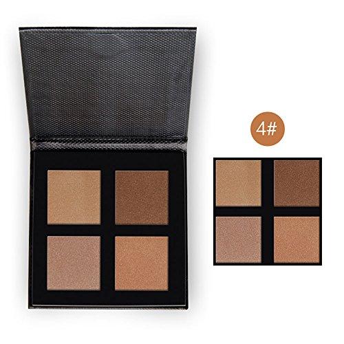 Bulary Contouring Kit 4 Teint Contour Poudre Palette de Maquillage