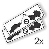 Decooo.be Autocollant Stationnement Interdit pour Mur ou Porte de Garage - Résistant aux intempéries - A Coller - 29,7 x 10,3 cm - Lot de 2 Autocollants
