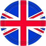8 Union Jack Paper Party Plates (23cm)Amscan PPP from Amscan