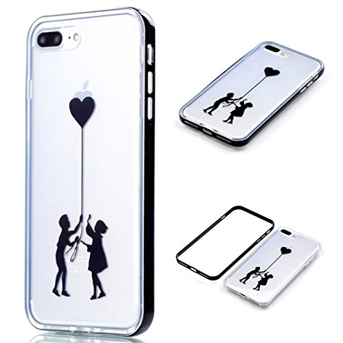 Apple iPhone 8 Plus 5.5 Hülle, Voguecase Schutzhülle / Case / Cover / Hülle / 2 in 1 TPU Gel Skin (Elefanten 06) + Gratis Universal Eingabestift Klein Liebhaber 07
