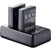 TOP-MAX® 2x EN-EL14 Batería + Cargador Doble Para Nikon D3100 D3200 D3300 D3400 D5100 D5200 D5300 D5500,CoolPix P7000 P7100 P7700 P7800