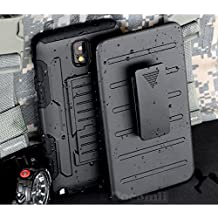 Galaxy Note 3 Funda, Cocomii Robot Armor NEW [Heavy Duty] Premium Belt Clip Holster Kickstand Shockproof Hard Bumper Shell [Military Defender] Full Body Dual Layer Rugged Cover Case Carcasa Samsung N9000 N9005 (Black)