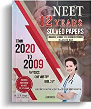 NEET 12 Years Solved Papers with 5 Mock Tests Including OMR Sheets