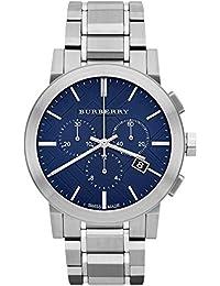 BURBERRY - Reloj de pulsera hombre, acero inoxidable, color plateado