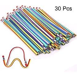 TaleeMall 30 Piezas Lápices Flexible,Lapiz Mágicos para Niños,Juguete para Fiestas de Cumpleaños Infantiles
