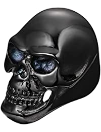 Sorella'Z Mens Black Metal Gothic Bikers Skull Finger Ring (Please keep it away from perfume, water & harsh liquids. Put in airtight box after use.)