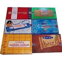 Räucherstäbchen 6 Großpackungen Nag Champa blau, Goloka, Natural Masala, Golden Nag Champa, Aastha, Wohnaccessoire... preisvergleich bei billige-tabletten.eu
