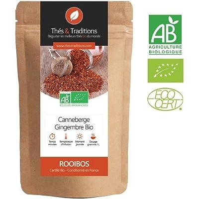 Rooibos Canneberge Gingembre BIO | Sachet 100g vrac | ? Certifié Agriculture biologique ?