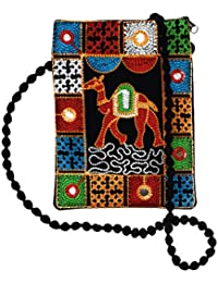 Unique Product Embroidered Multi Rajasthani Design Sling Bag With Mirror Work For Girls Women