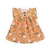 ♣ Tianya - Weiches Material Blumendruck-Oberteil gekräuseltes Prinzessin beiläufiges Sommerkleid-Kleid-Kleinkind scherzt Baby-Mädchen